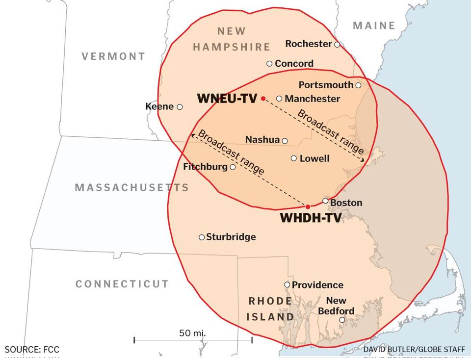 NBC said it will drop its network affiliation with WHDH-TV in January 2017 and move its programming to another station. One scenario is for NBC to broadcast from WNEU, a station the network owns, though its signal reaches half as many as people as WHDH.